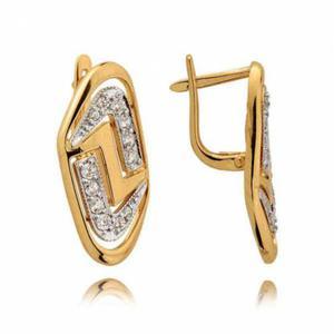 Kolczyki złote z cyrkoniami N235K