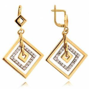 Kolczyki złote z cyrkoniami N236K