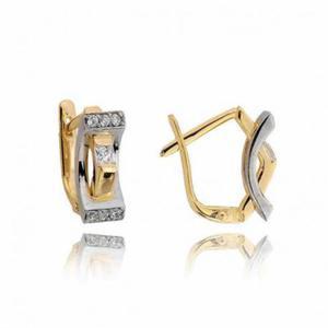Kolczyki złote z cyrkoniami N284K