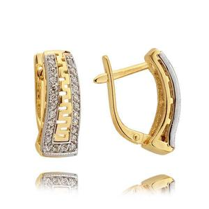Kolczyki złote z cyrkoniami N307K