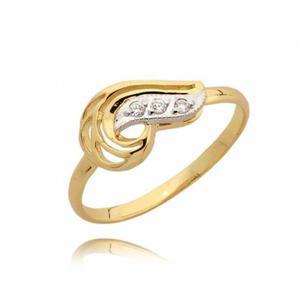 Efektowny pierścionek z zółtego złota