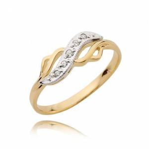 Zareczynowy pierścionek z cyrkoniami N52