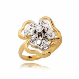 Piękny pierścionek z żółtego złota