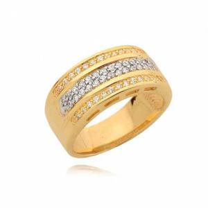 Śliczny złoty pierścionek