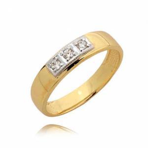 Złoty pierścionek z cyrkoniami - 2722638625