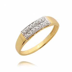 Piękny pierścionek z cyrkoniami