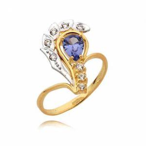 Pięknie ozdobiony pierścionek z topazem