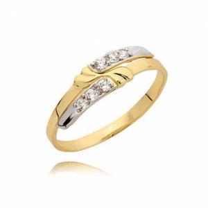 Delikatny złoty pierścionek