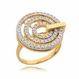 Śliczny pierścionek z efektownymi kółkami