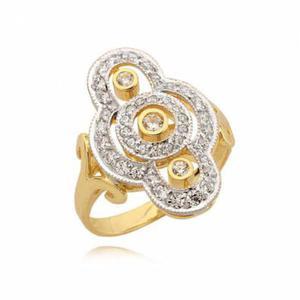 Cudownie ozdobiony złoty pierścionek