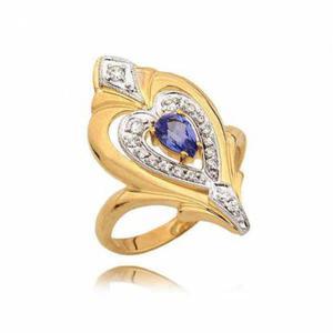 Śliczny pierścionek z efektownym serduszkiem i topazem