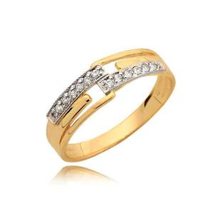 Delikatny złoty pierścionek idealny na prezent