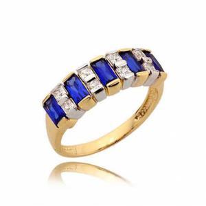 Złoty pierścionek N348