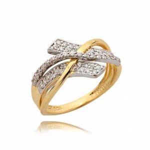 Złoty pierścionek N354