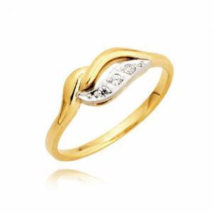 Gustowny złoty pierścionek zaręczynowy