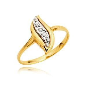 Piękny złoty pierścionek