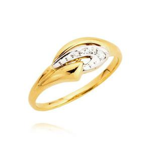 Pierścionek złoty zaręczynowy lub na prezent
