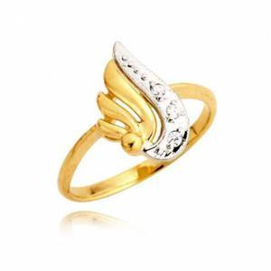 Efektowny złoty pierścionek na prezent