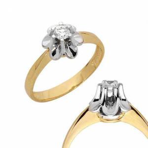 Złoty pierścionek PB90