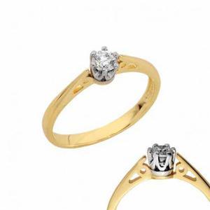 Złoty pierścionek PB129