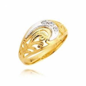 Złoty pierścionek z białym złotem wzor L27