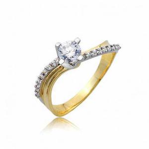 Złoty pierścionek PB245