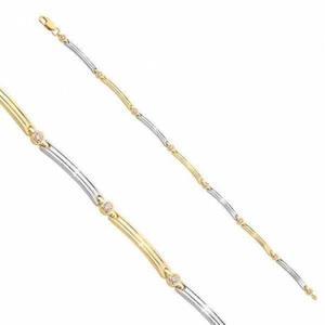 Bransoletka z białego i żółtego złota B3B