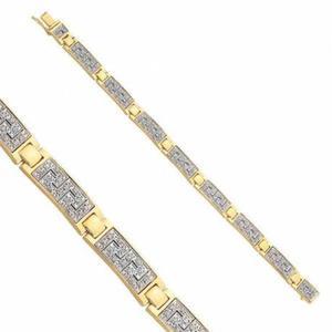 Bransoletka z białego i żółtego złota B5