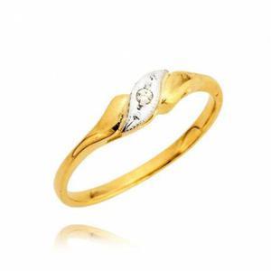 Zaręczynowy pierścionek z białego i zółtego złota