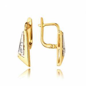 Kolczyki złote z cyrkoniami KB15