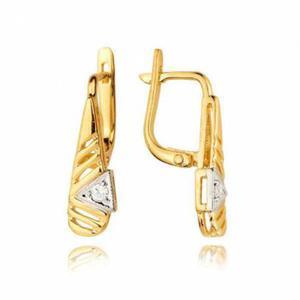 Kolczyki złote z cyrkoniami KB23