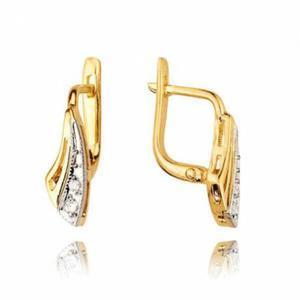 Kolczyki złote z cyrkoniami KB33