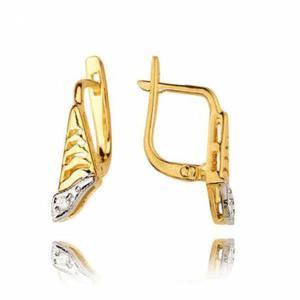 Kolczyki złote z cyrkoniami KB36