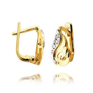 Kolczyki złote z cyrkoniami L6K