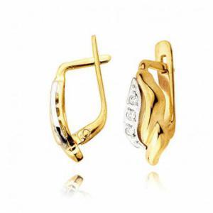 Kolczyki złote z cyrkoniami L9K