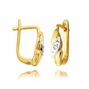 Kolczyki złote z cyrkoniami L39K