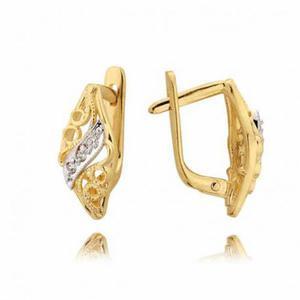 Kolczyki złote z cyrkoniami N20K