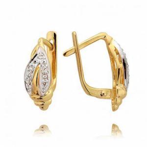 Kolczyki złote z cyrkoniami N30K
