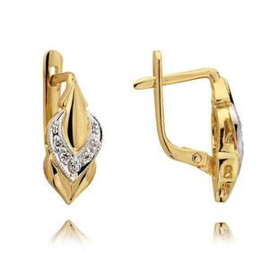 Kolczyki złote z cyrkoniami N35K