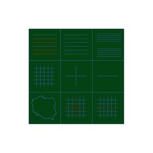 Liniatura do tablicy zielonej typu A - 2823198189
