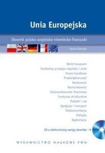 Unia Europejska Słownik polsko-angielsko-niemiecko-francuski z płytą CD - 2825716903