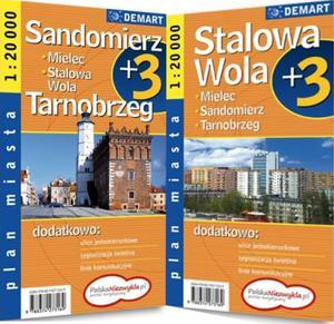 Plan miasta Sandomierz, stalowa wola, tarnobrzeg 1:20 000. Plus3 - 2825717949