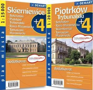 Plan miasta. Piotrków Trybunalski,Skierniewice. Plus4