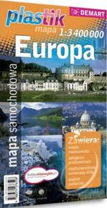Mapa samochodowa Europy (1:3 400 000) - plastikowa oprawa - 2825718257