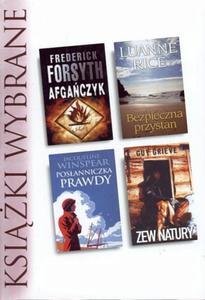 Książki wybrane. Afgańczyk, Bezpieczna przystań, Posłanniczka prawdy, Zew natury