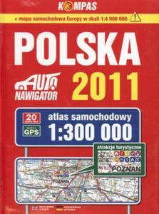 Atlas samochodowy 1:300 000. Polska 2011 - 2825718847