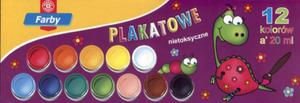 Farby plakatowe. 12 kolorów po 20 ml. - 2825724777
