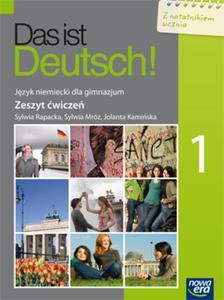 Das ist Deutsch! Gimnazjum, część 1. Język niemiecki. Zeszyt ćwiczeń + notatnik dla ucznia - 2825726044