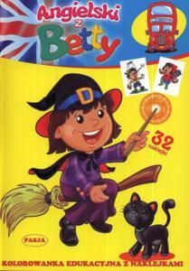 Angielski z Betty. Kolorowanka edukacyjna z naklejkami - 2825735268