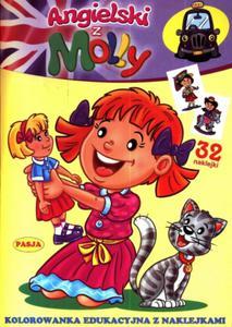 Angielski z Molly. Kolorowanka edukacyjna z naklejkami - 2825735272